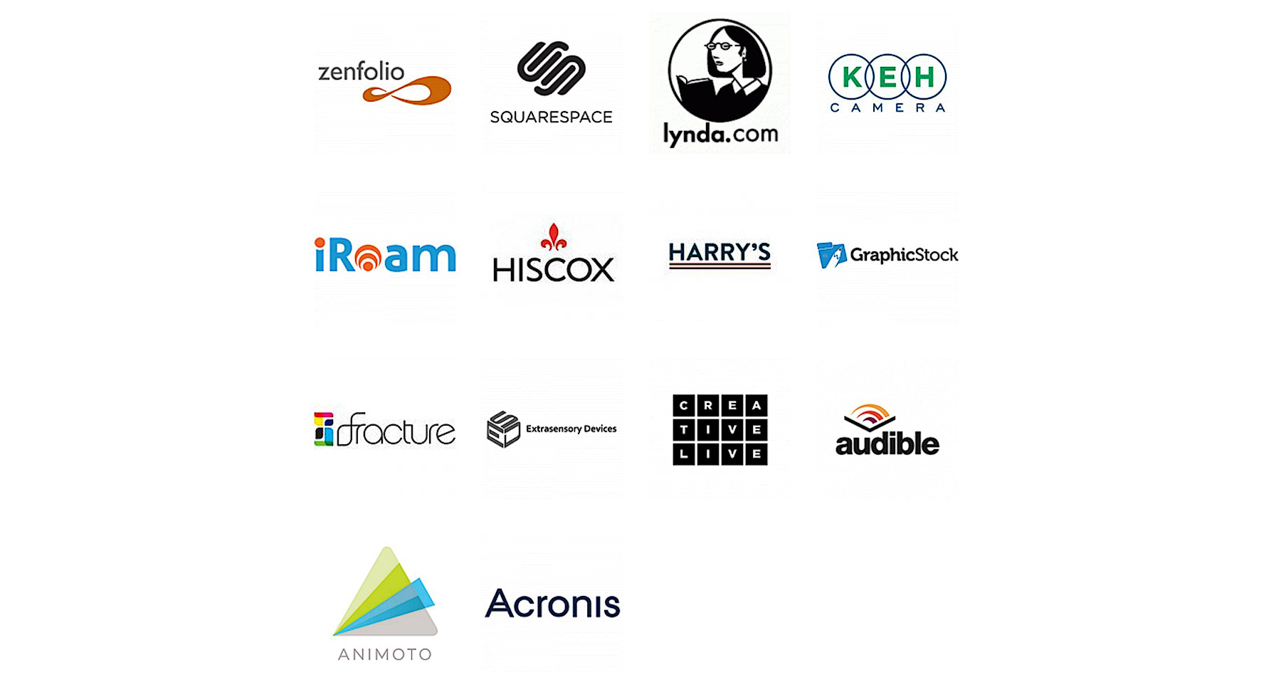 TFTTF sponsors: zenfolio, squarespace, lynda.com, KEH Camera, iRoam, Hiscox, Harry's, GraphicStock, fracture, Extrasensory Devices, Creative Live, audible, Animoto, Acronis